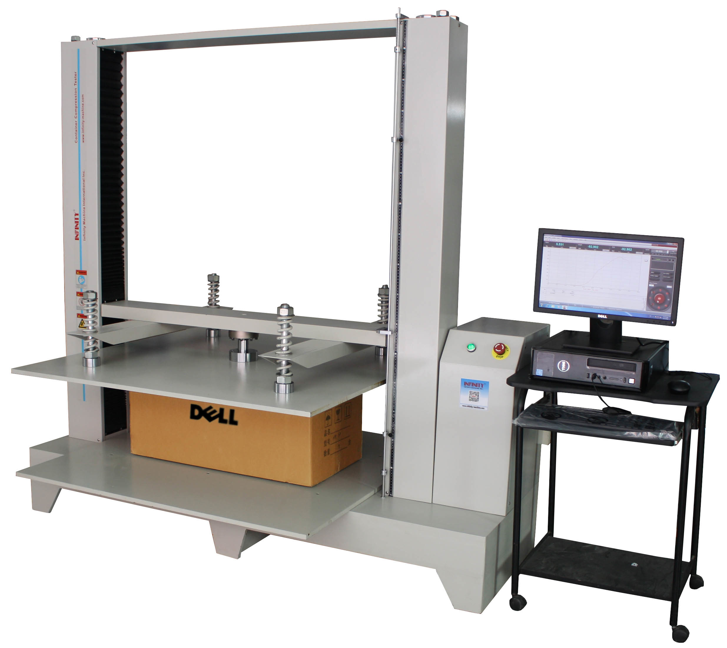 Compression Package Testing Equipment 10KN / 20KN / 50KN Servo Control