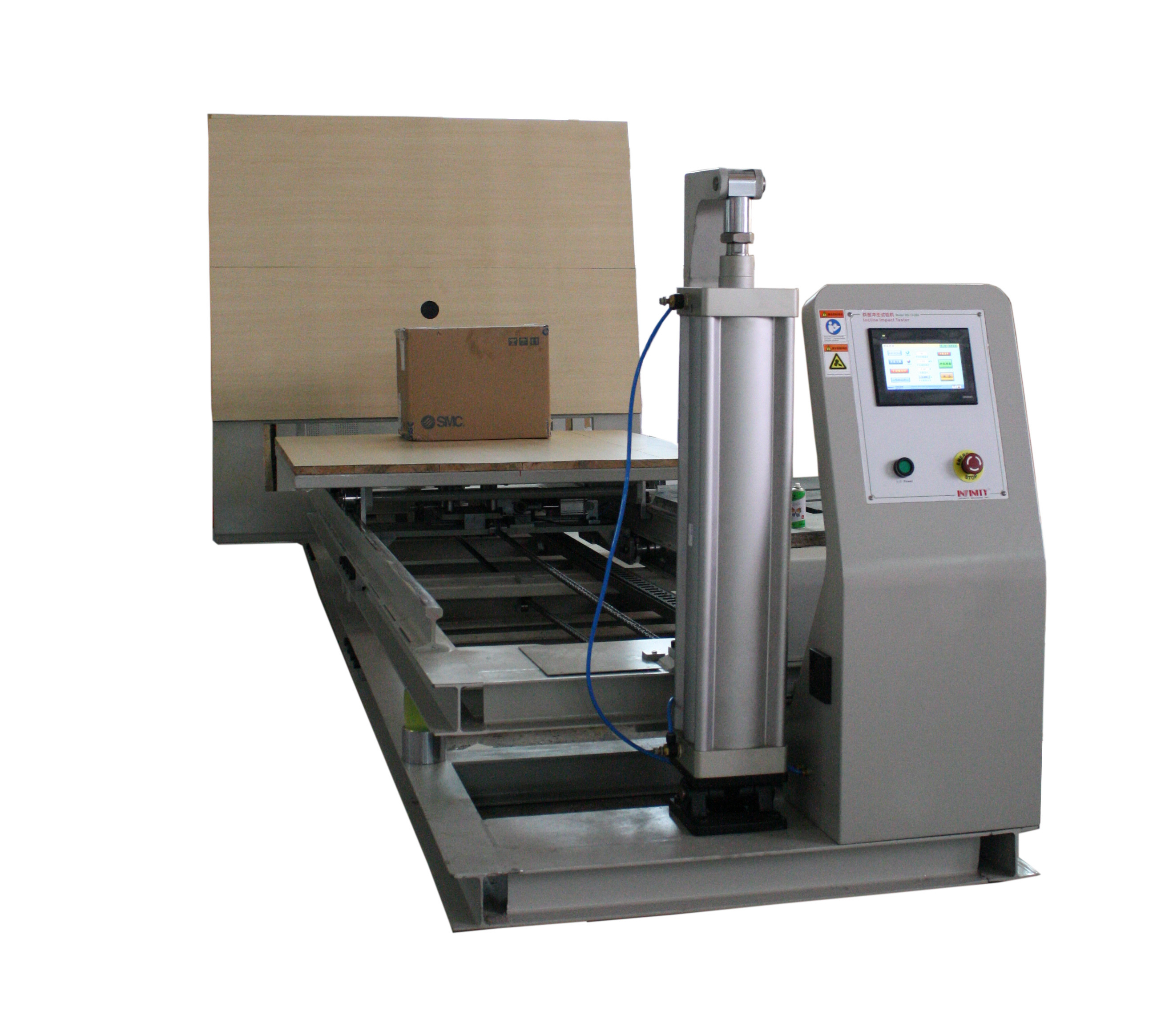 Slope Inclined Impact Testing Machine With LCD Panel For Box / Carton Packing Material